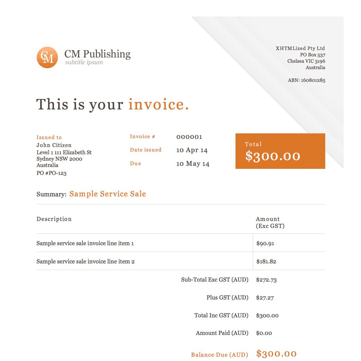 beautiful invoice
