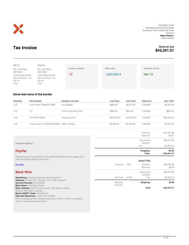 Theme2 invoice