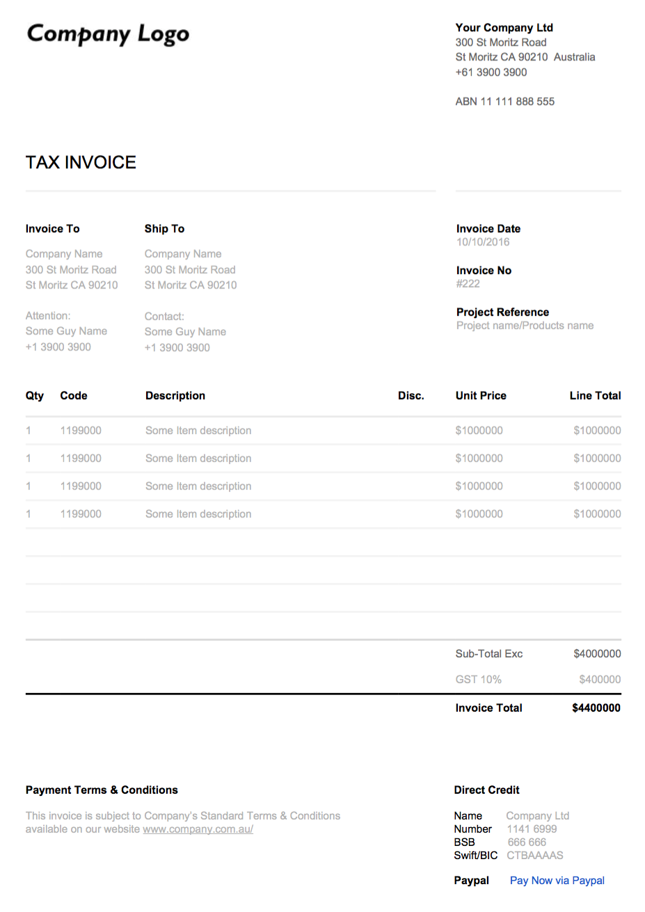 custom design google doc invoice theme xfive