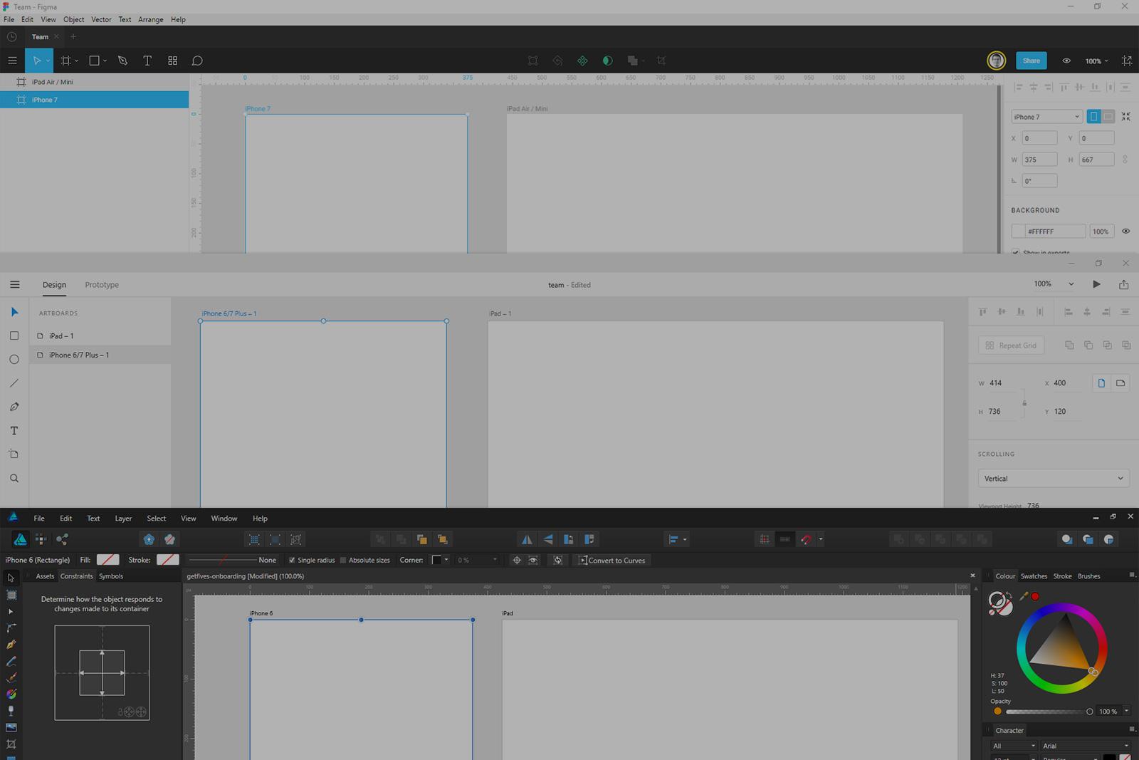 UI Design at Windows: Adobe XD, Figma, Affinity Designer - Prototyping